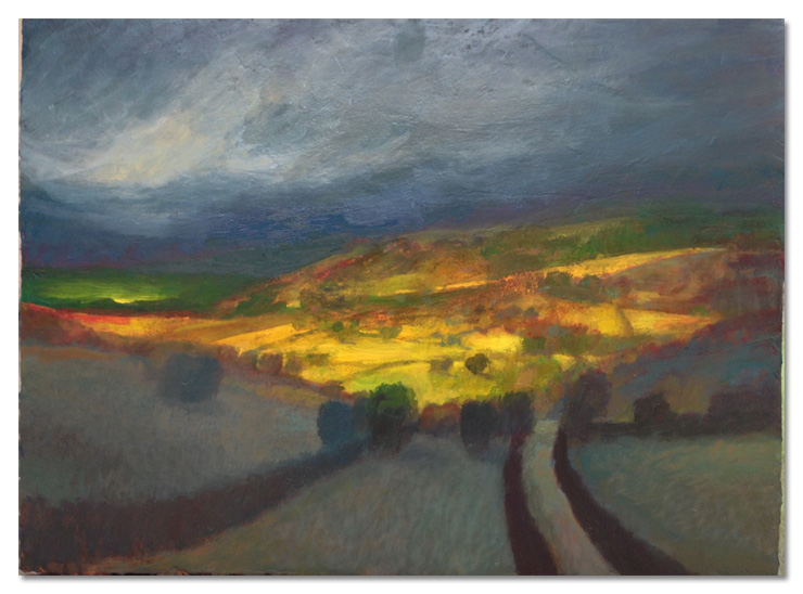 Into the Valley oil on board 2