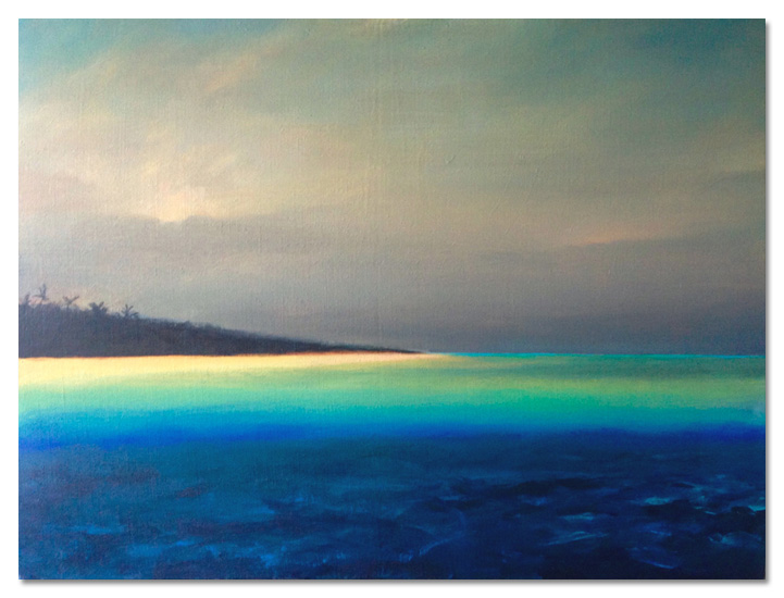 Island mm on canvas 60x80cm