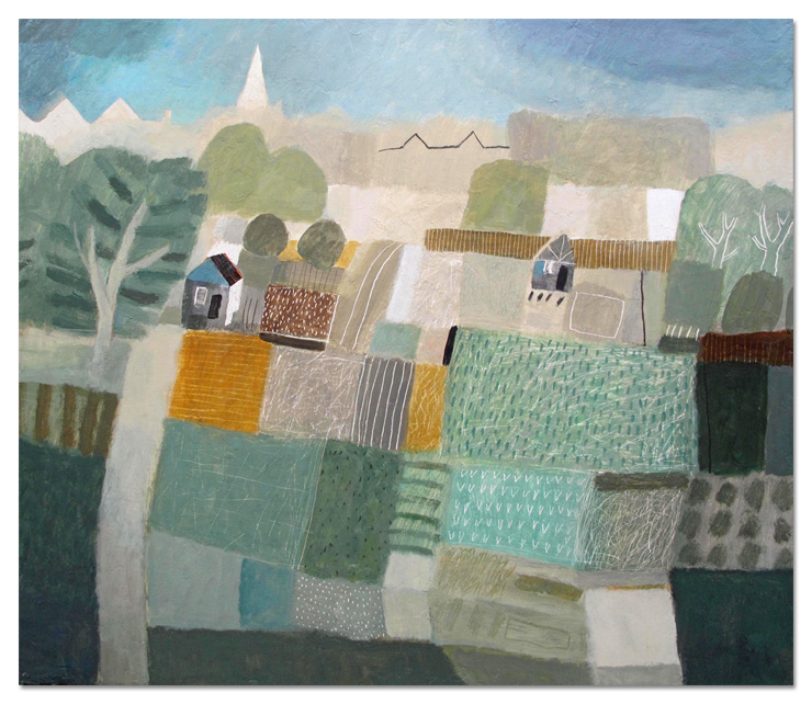 Allotment - MM on board 71x82cm