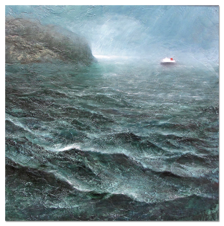 Hebrides Ferry 1 - 90 x 90cm - mm on canvas